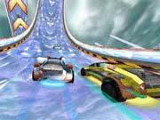 wyścigi samochodowe na śliskiej nawierzchni
