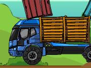 wożenie skrzyń na ciężarówce