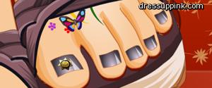 Malowanie paznokci od nóg
