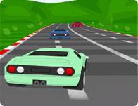 Kierowca samochodu wyścigowego gra