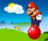Mario skakanie na piłce