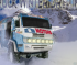 Jazda ciężarówką w zimie