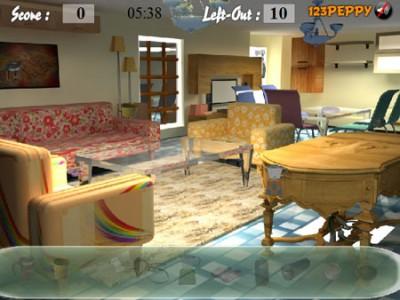 Ukryte obiekty w pokoju