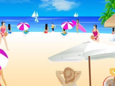 Ukryte przedmioty na plaży