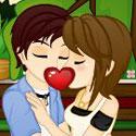 Romantyczny pocałunek