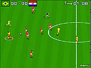 Mecz piłki nożnej gra
