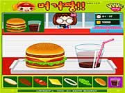 Gotowanie - robienie hamburgerów